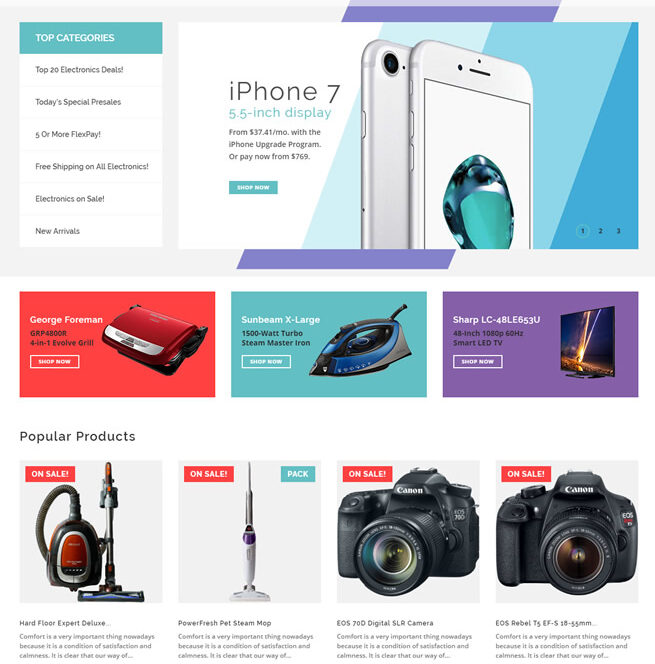 volusion ecommerce website design