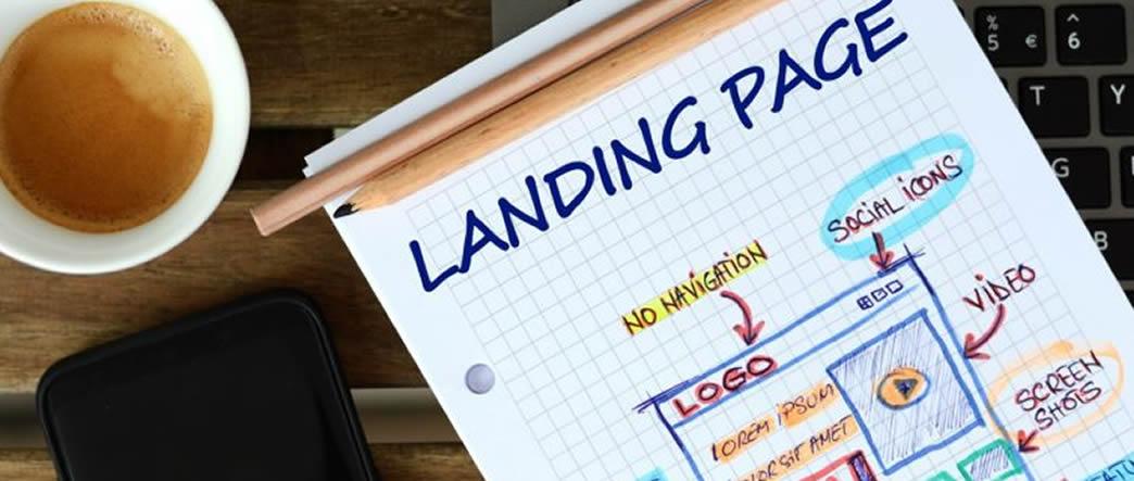 landing page web design seo