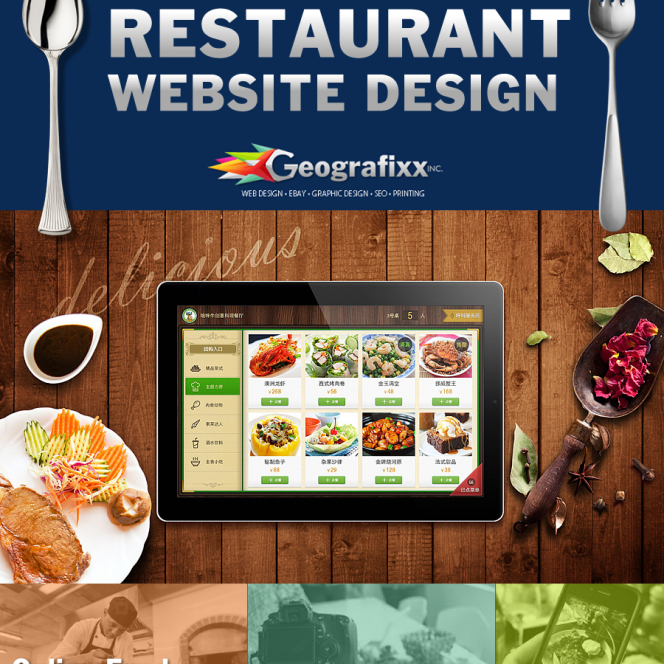 restraurent food ordering website design