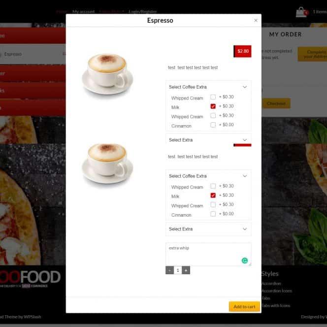 food ordering website design