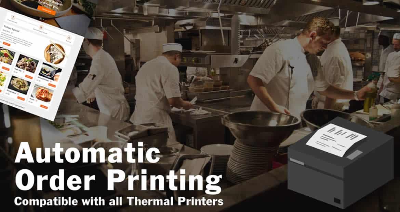 restaurant web design food ordering website