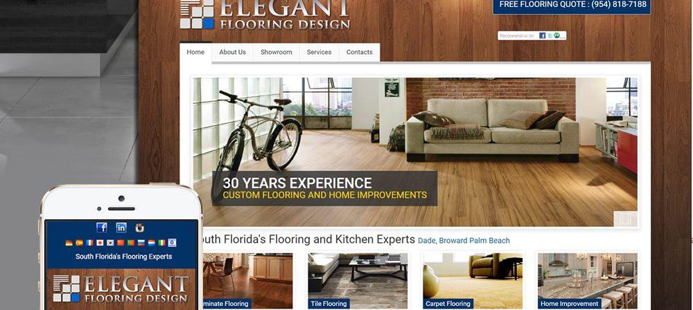 elegant flooring web design services