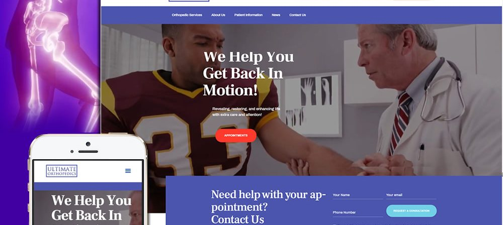 ultimate orthopedics web design