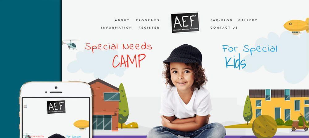 aefcamps website design